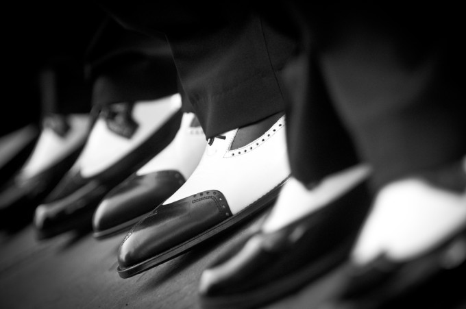Groomsmen Wedding Shoes that Twist and Shout