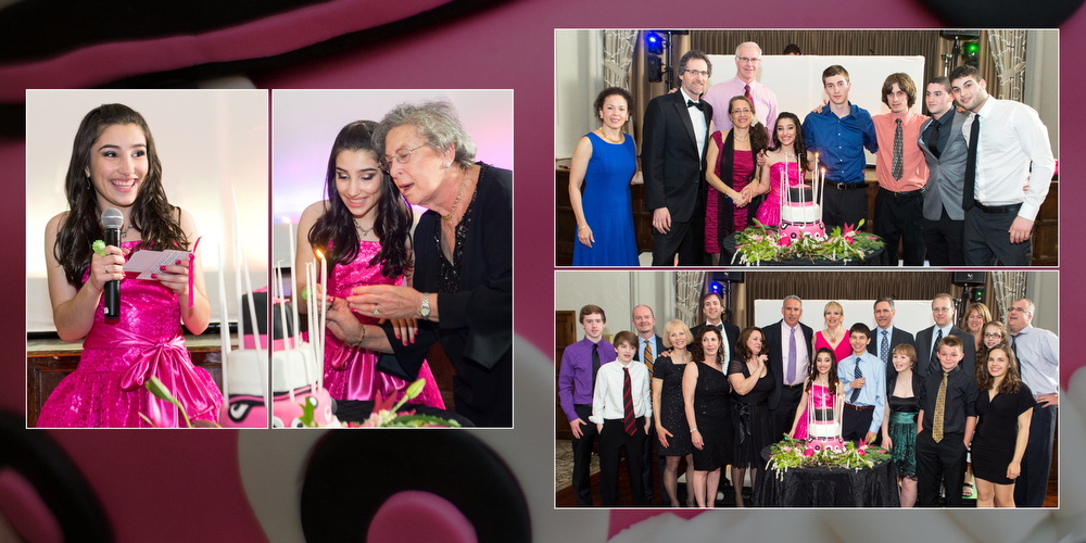 Bat Mitzvah Candle Lighting Photography