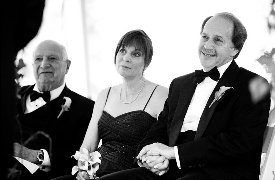 Black-White-Photo-Parents-Wedding-Appleford-Estate