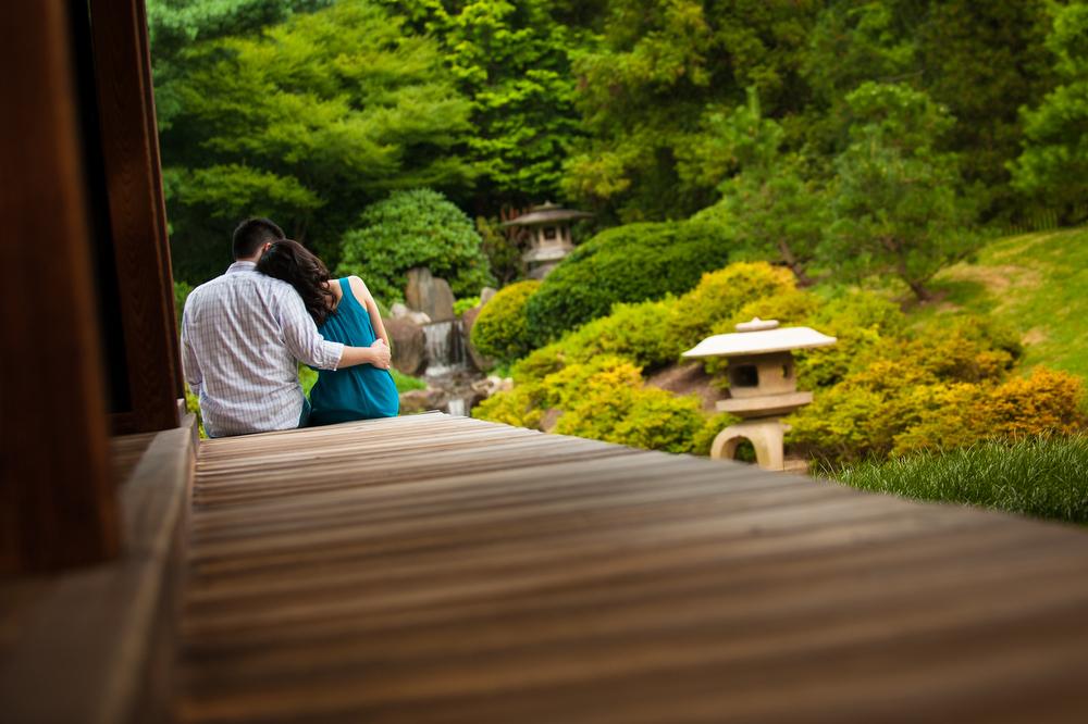 Japanese-House-Garden-Engagement-Photography