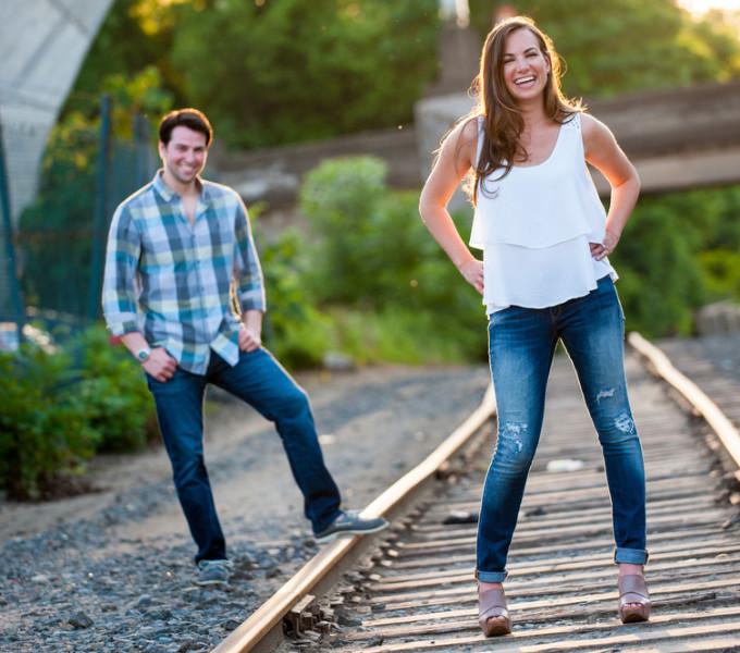 Julie & Dan's Engagement Session | Manayunk