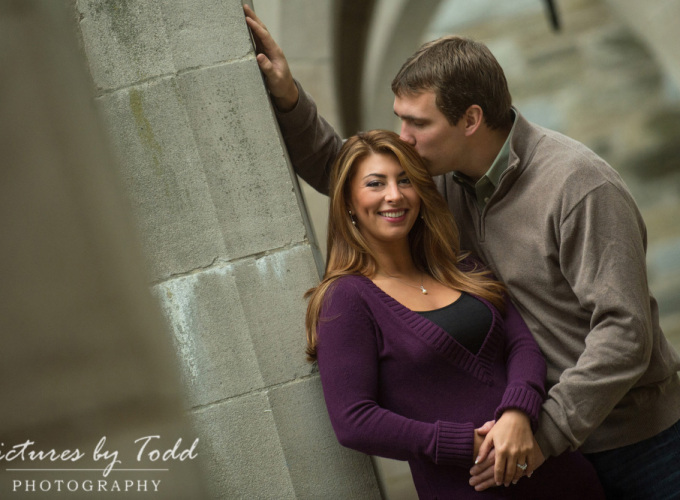 Courtney and Ryan Engagement Session | Bryn Mawr