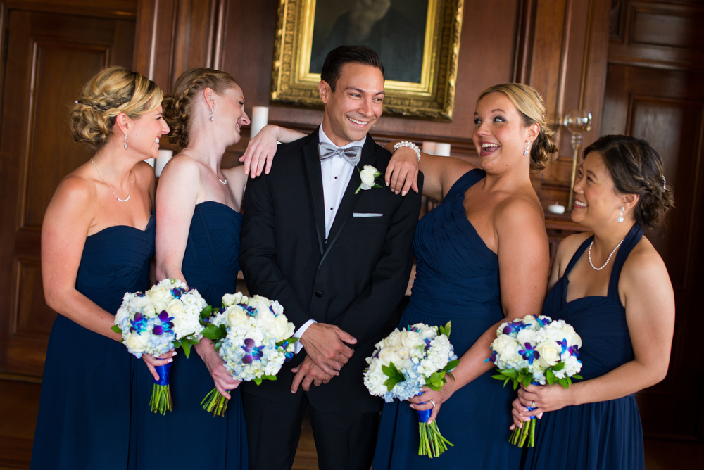 Groom-With-Bridesmaids-Wedding-Photography