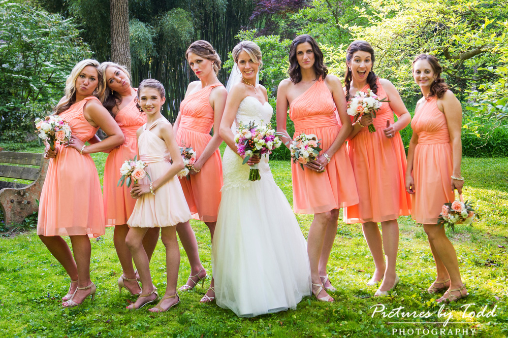Spring Wedding Bridal Party