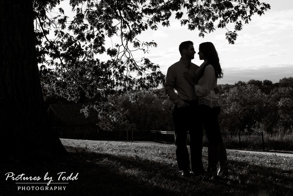 Black-White-Engagement-Photos
