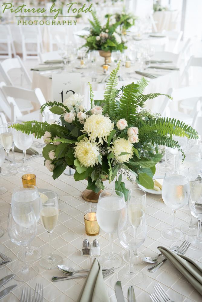 Blooms The Free Library Philadelphia Wedding Fern Flower Table Decor
