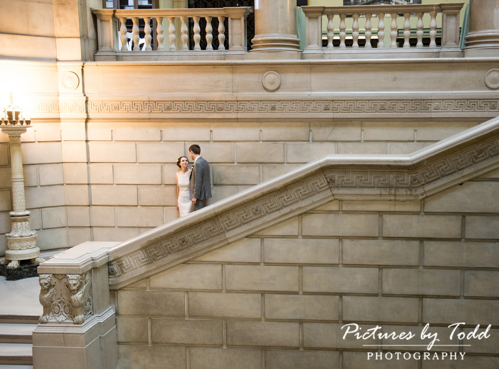 Beautiful-Blooms-The-Free-Library-Philadelphia-Wedding-Stairs