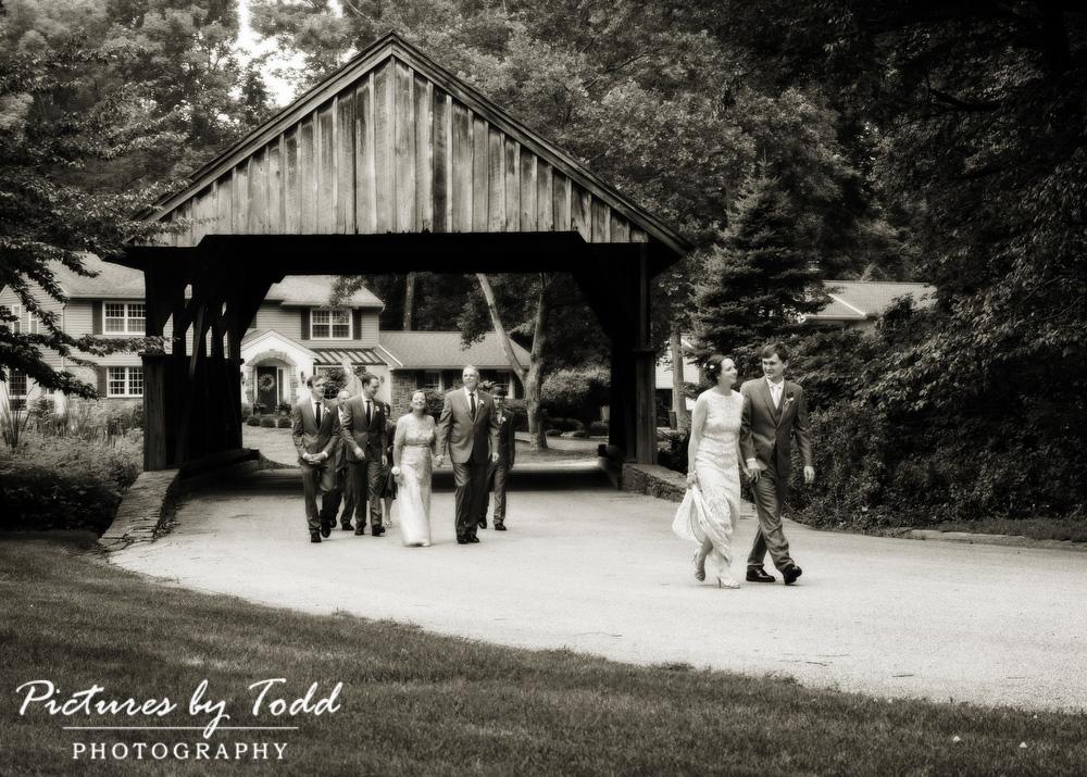 Black-White-Candid-Covered-Bridge-Wedding-Photos-Philadelphia