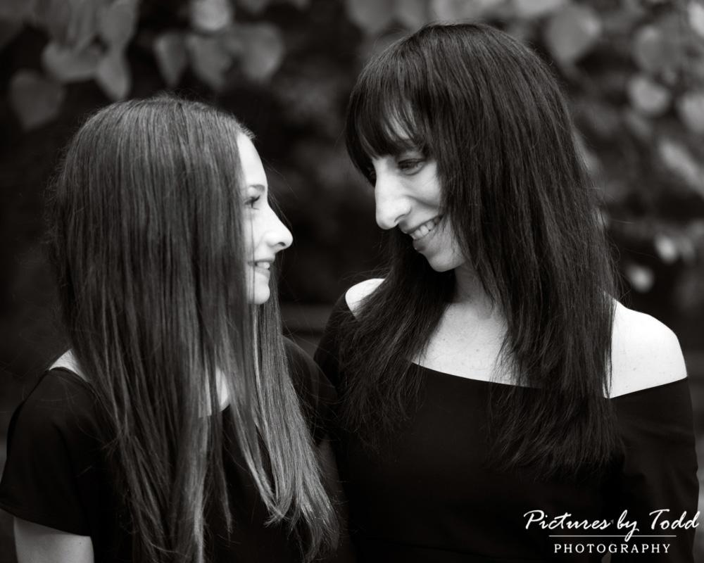 black-and-white-sweet-mother-and-daughter-bat-mitzvah-outdoor