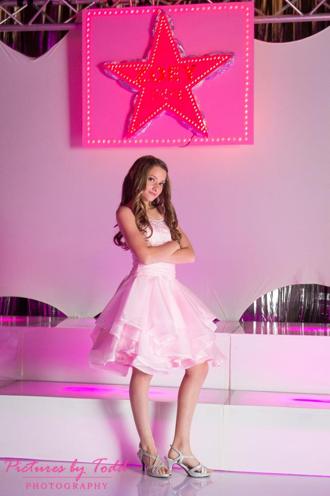 mitzvah-pink-dress-indoor-portrait-chubb-center-philadelphia-photographer