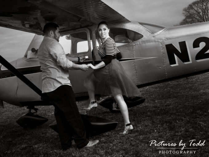 Amanda & Luis Engagement | Cross Keys Airport