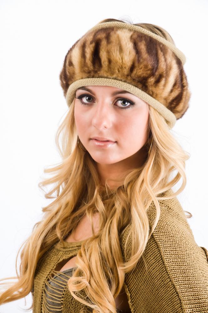 Teenage girl with hat