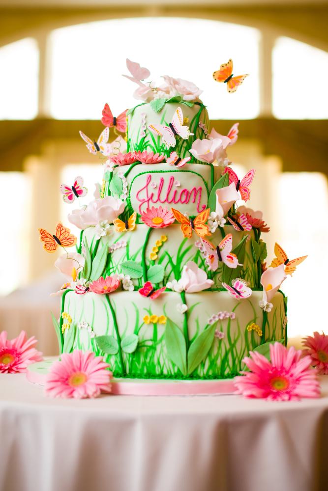 Bat-Mitzvah-Cake-Flowers