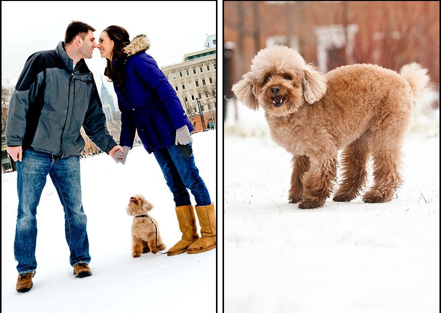 Philadelphia-Engagement-Photography-Winter-Pets