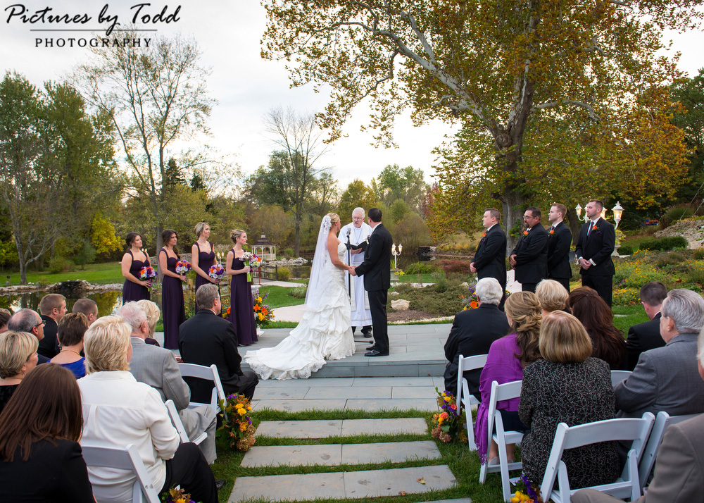 Outdoor Wedding Ceremony The Manor At Prophecy Creek